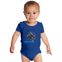 Living On The Edge MotorCycle Racer Wheelie Baby Onesuits