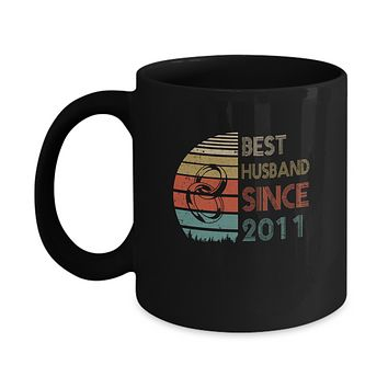 8th Wedding Anniversary Gifts Best Husband Since 2011 Mug