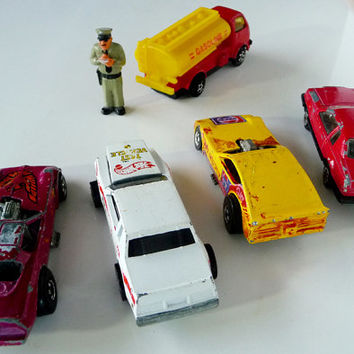 5 Vintage HOODS UP  TransAms Firebird 57 Chevy  Die Cast Toy Cars  MAJORETTE Hot Wheels plus Gasoline Vehicle