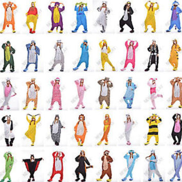 Onesuit Kigurumi Anime Pajamas animal Costume Unisex Sleepwear Cosplay Pyjamas