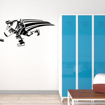 Vinyl Decal Wall Sticker Hockey Player Sportsman Decor  Home Unique Gift (g020)