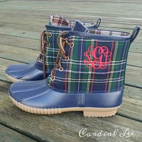 Ardyn Duck Boots - Navy Plaid