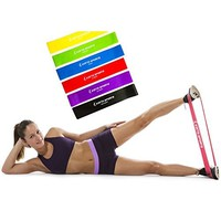 "Highest Quality Athleema Set of 3 Loop Bands (Light, Medium, Heavy) 10"" X 2"" the Best Exercise Loop Resistance Bands for Any Workout. Great for Home Gyms, Yoga, Pilates, Physical Therapy. 100% Natural Latex."