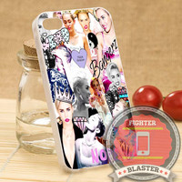 Miley Cyrus Collage - iPhone 4/4s/5/5S/5C Case - Samsung Galaxy S2/S3/S4 Case - Black or White