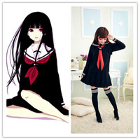 Japanese School Uniform Sailor Halloween Cosplay Costume Fancy Dress Full Set