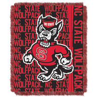 North Carolina State Wolfpack NCAA Triple Woven Jacquard Throw (Double Play Series) (48x60)