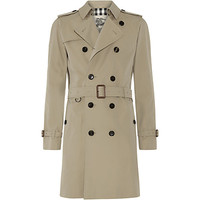 Burberry London Cotton Gabardine Mid-Length Trench Coat