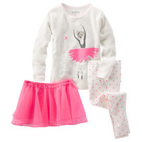 3-Piece Ballerina Tutu Cotton PJs