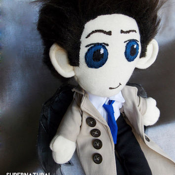 Castiel Supernatural Plush Doll Plushie Toy Ragdoll Misha Collins