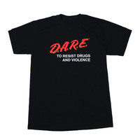 Vintage 90s DARE To Resist Drugs T-Shirt Mens Size Small