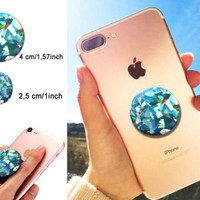 STICKER 3D MINT Crystal gemstone for POP out Grip Stand selfie HOLDER decal | eBay