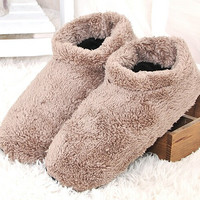 Free Shipping 2014 Unisex Adult Coral Velvet Home Indoor Shoes, Thick EVA Soft Bottom Soft Surface Indoor Slippers Best Price