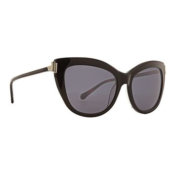 Trina Turk - Santorini 56mm Black Sunglasses / Smoke Lenses