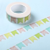 1 Pcs Colour Flag Washi Tape DIY Decoration Scrapbooking Planner Masking Tape Adhesive Tape Kawaii Stationery
