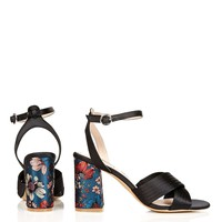 RICH Satin Cross Strap Sandals - Shoes