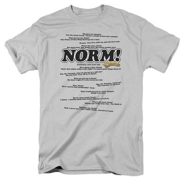 Cheers - Normisms Short Sleeve Adult 18/1