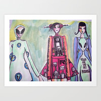 alien Art Print by helendeer
