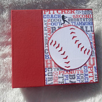 6x6 PreMade Baseball Scrapbook Photo Album