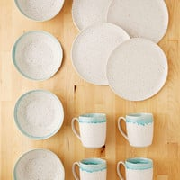 Gibson 12-Piece Speckle Reactive Glaze Dinnerware Set - Urban Outfitters