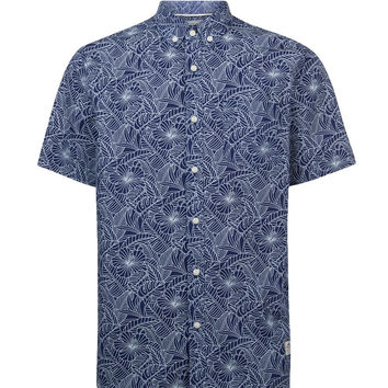 Penfield Cuyler  Leaf Print Short Sleeve Shirt