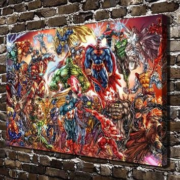 A3626 DC Universe and Marvel Comics Cartoon Movie.HD Canvas Print Home decoration Living Room bedroom Wall pictures Art painting