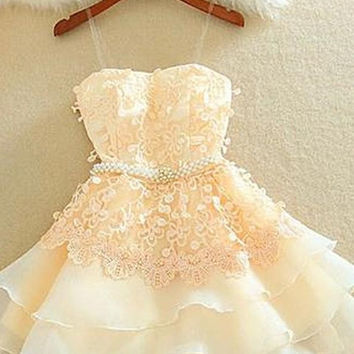 Short Cute Lace Homecoming Dresses For Girls K213