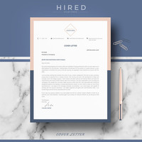 Creative Resume Template | Resume Template for MS Word | CV Template + Cover Letter & References + Resume Writing guide | Instant Download