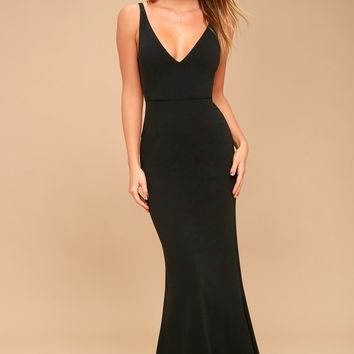 Melora Black Sleeveless Maxi Dress