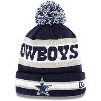 New Era NFL Dallas Cowboys Navy Blue Beanie With Pom