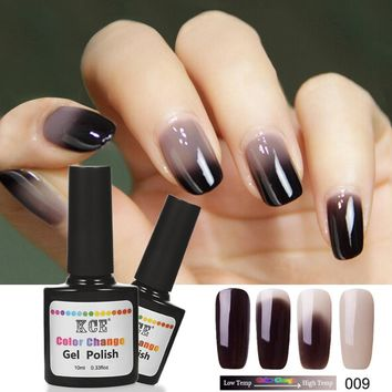 Newest 18 Colors Nail Polish Temperature Change Nail Color UV Gel Polish Gradient Nail Gel for Nail gel polish 10ml /1pc