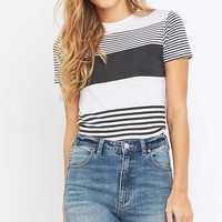 Rollas Yacht Black Striped T-shirt - Urban Outfitters