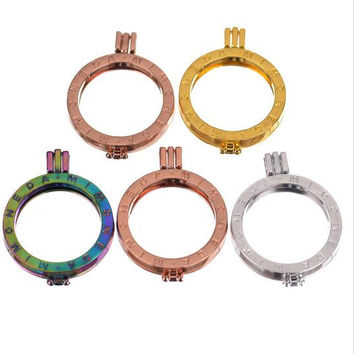 Free shipping high quality 35mm round my coin holder openable locket pendant go with 33mm coin discs