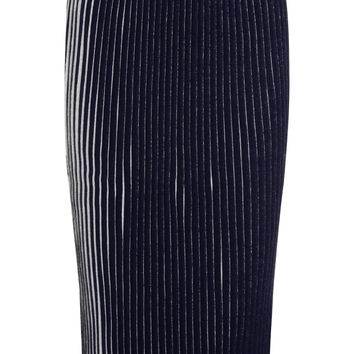 1205 - Pleated wool skirt