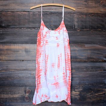 final sale - tie dye for mini dress | bohemian orange