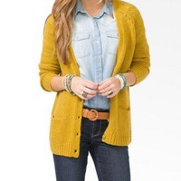Wool-Blend Metal Button Cardigan | FOREVER 21 - 2025100593