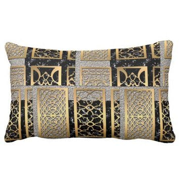 Modern African American Abstract Design Lumbar Pillow
