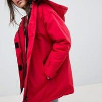 ASOS DESIGN borg lined anorak at asos.com