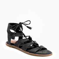 Lace-Up Gladiator Sandals for Women   Old Navy