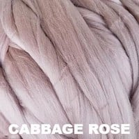 Ashland Bay Solid Colored Merino Wool Top - Cabbage Rose