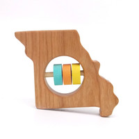 Missouri State Wooden Baby Rattle™