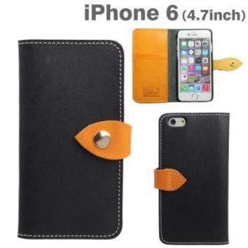Strapya World : Brushup Standard Tochigi Leather Diary Type Case for iPhone 6 (Black)