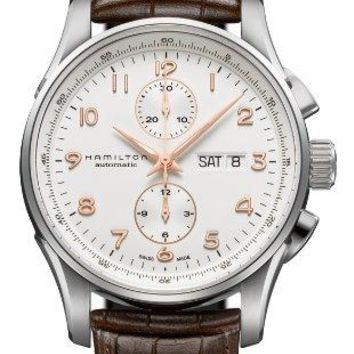 Hamilton H32766513 Maestro Automatic Brown Leaether White Dial Men's Watch
