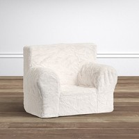 Ivory Faux Fur My First Anywhere Chair®