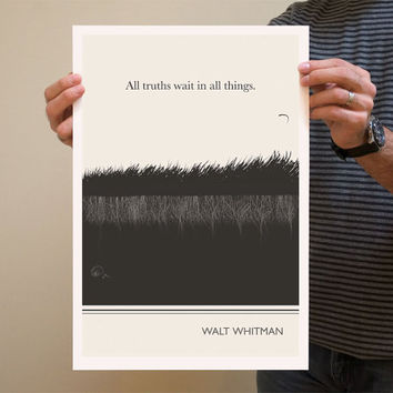 Illustration Walt Whitman Quote Fine Art Prints by ObviousState
