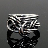 Figure 8 Climbing Knot Sterling Silver Ring
