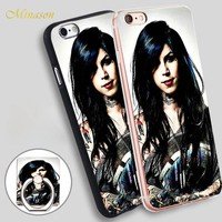 Minason Kat Von D Tattoos Mobile Phone Shell Soft TPU Silicone Case Cover for iPhone X 8 5 SE 5S 6 6S 7 Plus