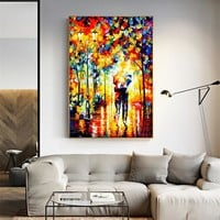 Abstract Oil Paintings for Living Room Wall Pictures Home Decor Night Scenery Couples Posters Prints on Canvas Art Paint
