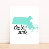 Massachusetts Art PRINTABLE Typography Poster Dorm Decor Home Decor Office Decor Poster
