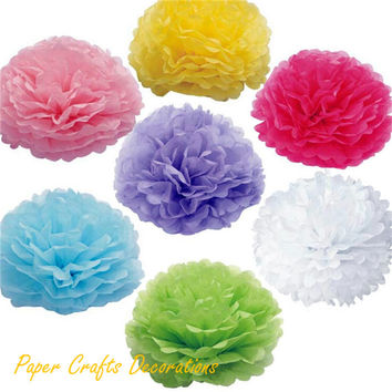 34 Colors 6inch (15cm) Haning Tissue Paper Flower Pompoms Rose Balls Baby Shower Wedding Party Decorations
