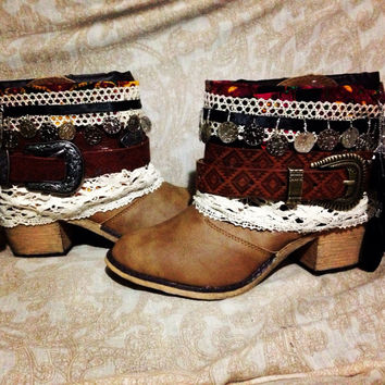 READY TO SHIP Hippie Boho Boots